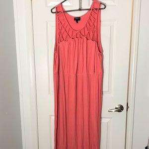 Lane Bryant coral maxi dress